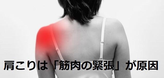 肩こりの原因|男女共に筋肉の緊張からきている